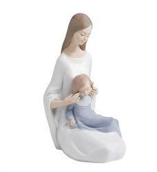 Nao by Lladro Collectible Porcelain Figurine: MY BEAUTIFUL GIRL - 9-1/2'' tall - mother and daughter