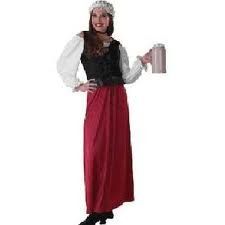 Adult Tavern Wench Costume, Ladies Standard (Up to Dress size 12)]()