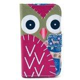 Magnetic Flip Leather Card Holder Case for Motorola Moto X XT1053 XT1058 - Owl Patchwork
