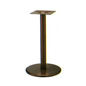 e-kanamono テーブル脚 ラウンドS7450 ベース450φ パイプ76.3φ 受座240x240 ジービーメッキ AJ付 高さ700mmまで B012CCC35I