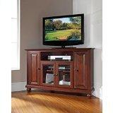 Crosley Furniture Cambridge 48-Inch Corner TV Stand, Vintage Mahogany
