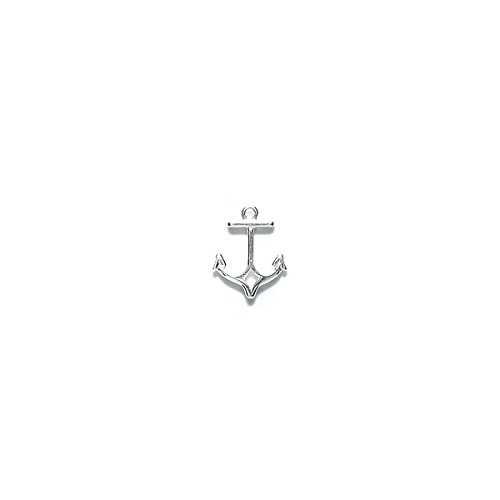Amoracast AM355 Sterling Silver Charm Anchor Jewelry Making Components, 8 (Misc Silver Charms)