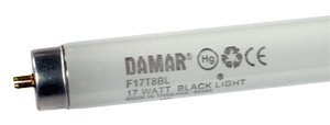 Fluorescent Light Tubes F17T8BL Black Lite UV (Case of 30) by Damar