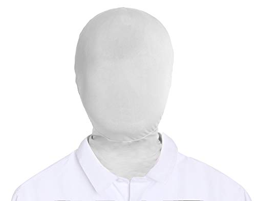 Adult Unisex Lycra Spandex Zentai Mask Full Head Cover Hood (White)