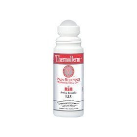 Thermoderm 3 onces Roll-on fournir à action rapide, profonde pénétrante, soulagement de la douleur pour les entorses musculaires chaleur et foulures, maux de muscles raides, bursites et de tendinites, l'arthrite et les douleurs articulaires