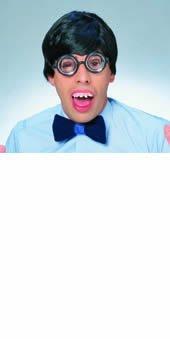 Kent Clark Costume (Rubie's Costume Characters Men's Short Hair Wig, Black, One Size)