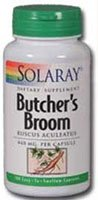 Solaray Butcher's Broom -- 440 mg - 100 Capsules - (Solaray Butchers Broom)