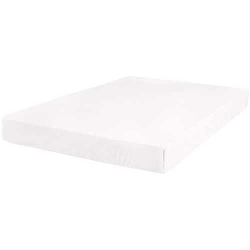 AmazonBasics Ultra-Soft Fitted Sheet - Breathable, Easy to Wash - Twin, White