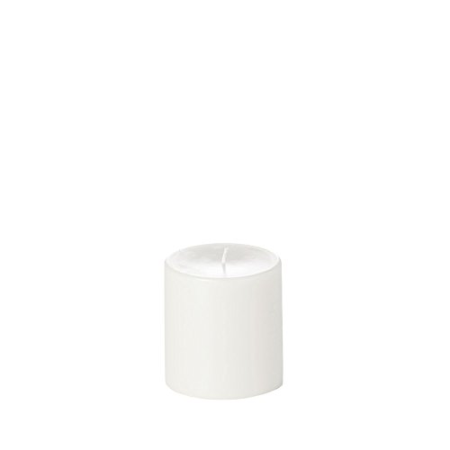 Yummi 4x4 Unscented Column Pillar Candle, White, ea