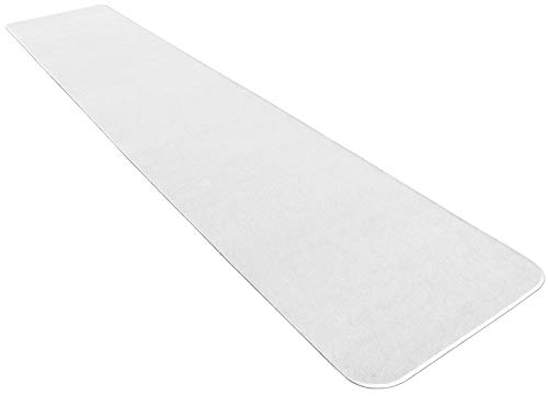 House, Home and More White Carpet Aisle Runner - 3' x 10' - Many Other Sizes to Choose From