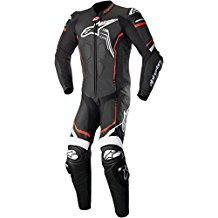 Alpinestars GP Plus V2 Motorcycle Leather Suit Black/White/Red  54/Euro ()