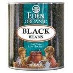 Eden Foods Organic Black Bean, 108 Ounce -- 6 per case.