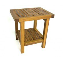 "The Original 18"" Grate Teak Shower Bench with Shelf"