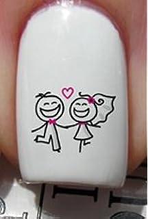 Mariage heureux, couple de mariés , Stickers pour ongles YRNAILS