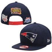 c9823f705743f8 New England Patriots Super Bowl Patch Post Adjustable Snapback Hat / Cap