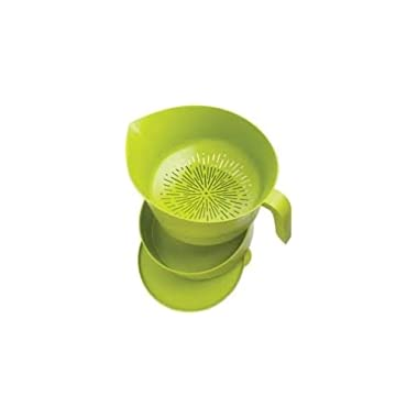 Heat Resistant Colander Drains Fast and Easy Catch Grease for Easy Cleanup, Storage and Disposal, Strain Jams and Jellies