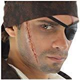 Halloween Eye Makeup Joker (Loftus International Deluxe Pirate Scar & Eyepatch Complete 8Pc Makeup Kit, Black Red Brown Novelty)
