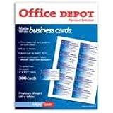 Office depot white inkjet laser return for Office depot address label template