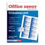 Office Depot R Laser Jet Dencre Matte Cartes De Visite