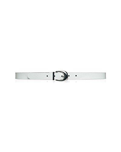 Ralph Lauren Reversible Belt (Lauren Ralph Lauren Women's Reversible Saffiano Belt Bright White Black, (Small))
