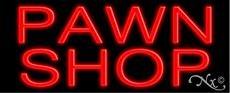Pawn Shop Neon Sign - 13'' x 32''