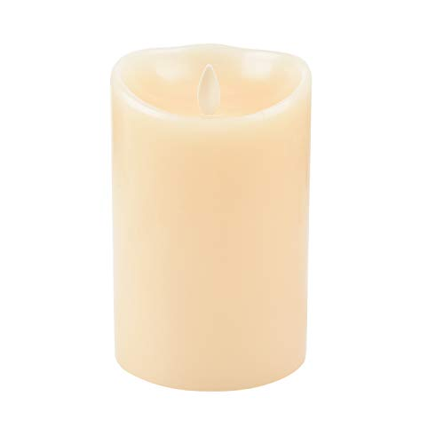 (Luminara LED Flameless Candles, Luminara Flameless Real Wax Moving Wick LED Candle for Home/Party/Halloween/Christmas/Wedding Decor with Timer Control Vanilla Scent 3.5