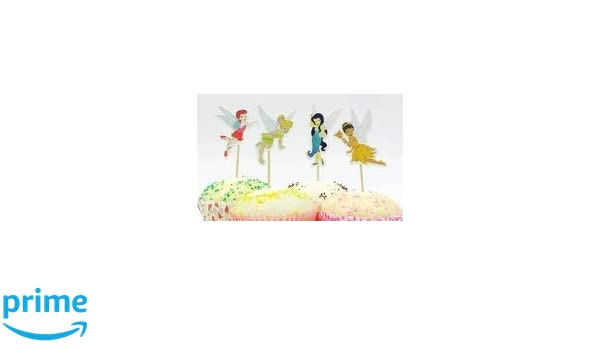 TINKER BELL FAIRIES FIGURES TOYS CAKE TOPPERS KIDS BIRTHDAY PARTY 6 PCS//SET NEW