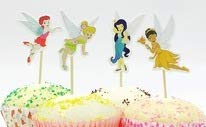 Disney Fairies Cupcake Toppers Picks Fairies Birthday Party Supplies Favors Pack of 24