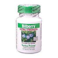 Bilberry Extra Strength, 50 Caps by Yerba Prima (Pack of 3) by Yerba Prima