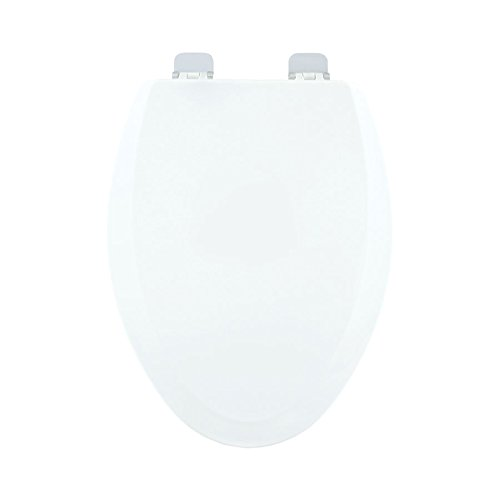Centoco 900CH-001 Wood Elongated Toilet Seat with Closed Front, White by Centoco (Image #1)