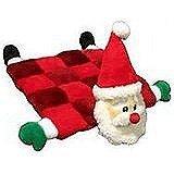 Outward Hound Kyjen  PP03315 Squeaker Mat Santa 16-Squeaker Plush Squeak Toy Dog Toys, Medium, Red
