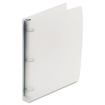 Acco Translucent Poly Ring Binders - Wilson Jones® Translucent Poly Round Ring Binder BNDR,RNG,TRANS,1