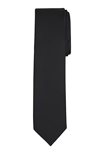 Tie Kids Black - Jacob Alexander Boy's Regular Self Tie Prep Solid Color Necktie - Black