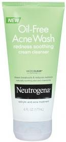 Neutrogena Oil-Free Acne Wash Rougeurs Crème Apaisante Nettoyant, 6 onces