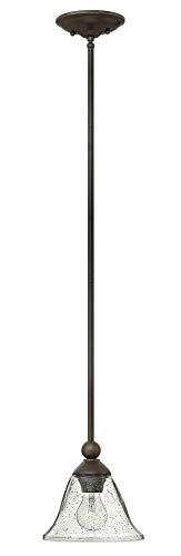 Bolla Pendant Lighting - Hinkley 4667OB-CL Transitional One Light Pendant from Bolla collection in Bronze/Darkfinish,