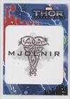 Mjolnir (over tan ironwork) (Trading Card) 2013 Upper Deck Thor: The Dark World - Stickers #T2-24
