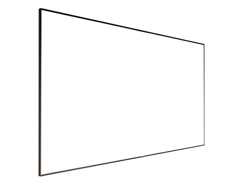 Monoprice 4K Fixed Frame Projection Screen Display - 150 inch   ISF, Ultra HD, 16:9, No Logo Ideal for Home Theater, Business, Movies, Presentations and More
