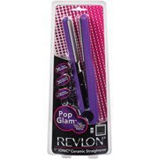 Pop Glam 1 Ionic Ceramic Straightener Styling Tool, Revlon ()