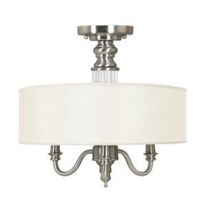ce342aba086 Gala 3-Light Semi-Flush Mount Polished Nickel Polished Nickel ...