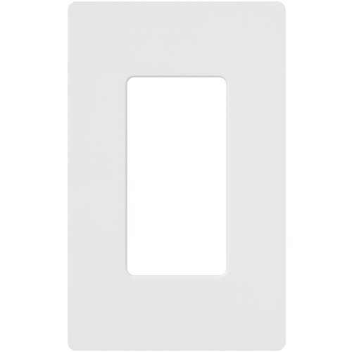 Lutron Claro 1 Gang Decorator Wallplate, CW-1-WH, White (Plastic Switchplate)