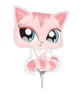 14 Inch Littlest Pet Shop Pink Cat Mini-Shaped Balloons ()