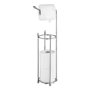 Lakeland Shiny Steel Toilet Roll Stand & Store by - Stores Lakelands