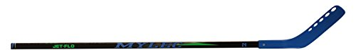 Mylec Jet-Flo Hockey Stick, Neon Blue, Right, (Tapered Hockey Blades)