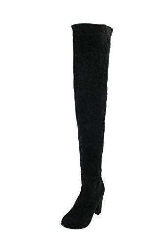 Nouvelle Bottes Arrivée Black Kolnoo Genou Bal D'hiver Parti De Femmes Chaussures Bloquée BFCM Talon tqZxR0E