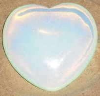 Opalite Heart Opal Glass Carving 40mm by Gifts and Guidance