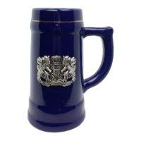 Beer Mug Bayern Cobalt Blue Metal Medallion Bar Gifts for Men Beer Stein by E.H.G. | .75 Liter