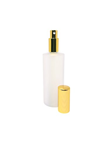 ed Glass Refillable Fragrance Bottle with Gold Sprayer. Top Quality Glass; Ideal for Perfumes, Colognes, Essential Oils, Beauty Sprays. Bonus Perfume Oil Sample (2oz Bottle) ()