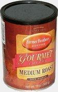 Farmer Brothers Gourmet 100% Arabica Medium Roast Ground Coffee, 13-Ounce Can