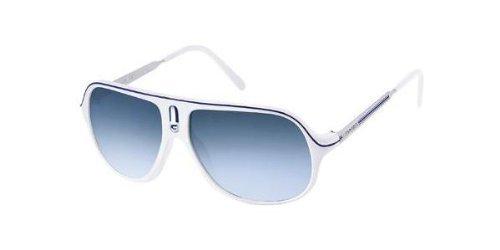 Carrera Safariml White / Blue / Palladium Frame/Azure Gradient Lens Plastic Sunglasses