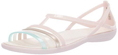 Crocs Women's Isabella Sandal Slide, Barely Pink/Oyster, 10 M US
